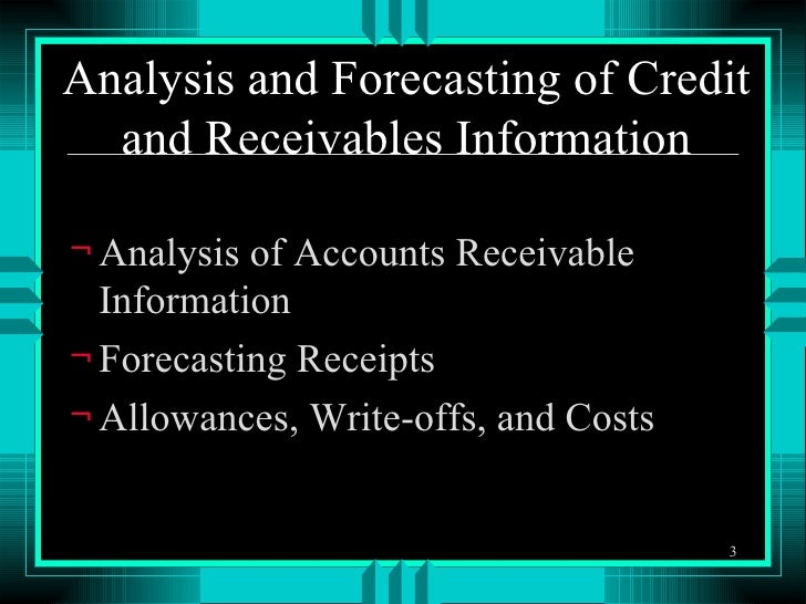 hersheys account receivables analysis Receivables include accounts receivable,  analysis quick ratio is an indicator of most readily available current assets to pay off short-term obligations.