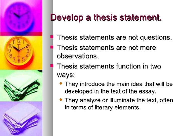 Thesis Statement Examples For Literary Analysis