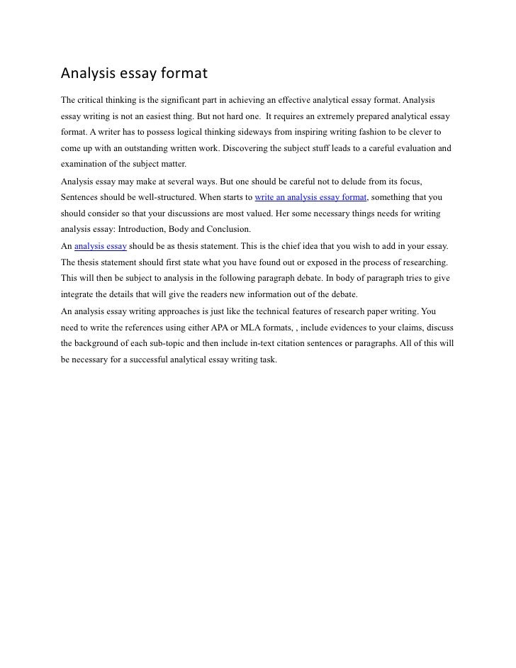Writing literary essay StudentShare