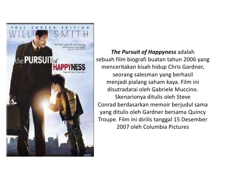 review on the pursuit of happyness essay The pursuit of happyness is a 2006 american biographical drama film based on  entrepreneur  film review site rotten tomatoes calculated a 67% overall  approval based on 173 reviews, with an average rating of 64/10 the site's  critical.