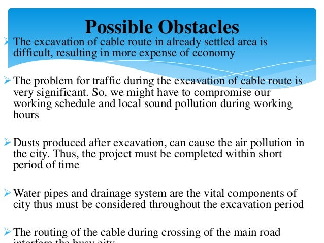 Analysis for underground cable system, lakeside pokhara