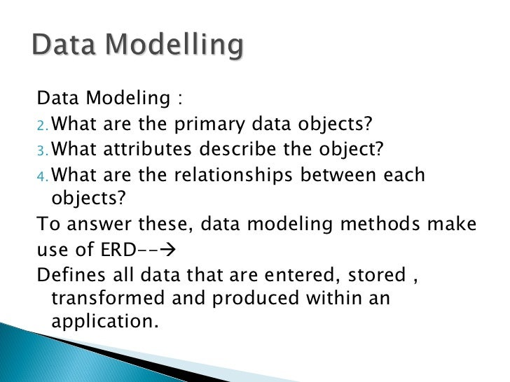 Analysis Modelling