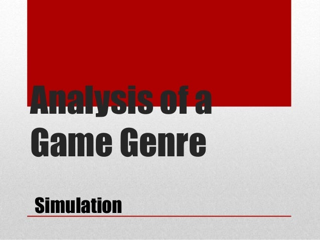 Analysis of a Game Genre Simulation