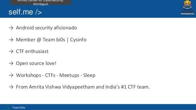 Analysis of android apk using adhrit by Abhishek J.M Slide 2
