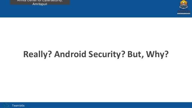 Analysis of android apk using adhrit by Abhishek J.M Slide 3