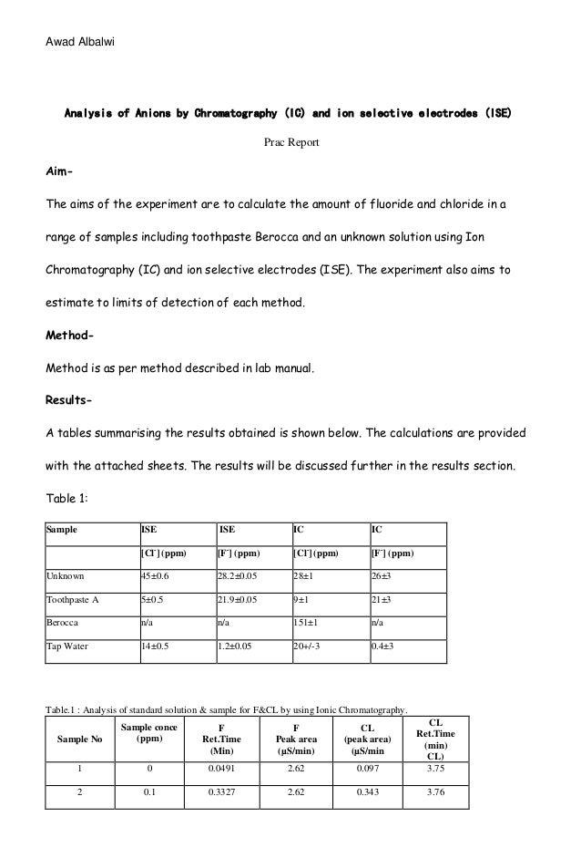 Report Data Analysis Example