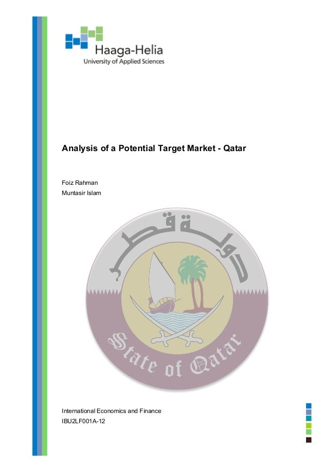 Analysis of a potential target market qatar pdf