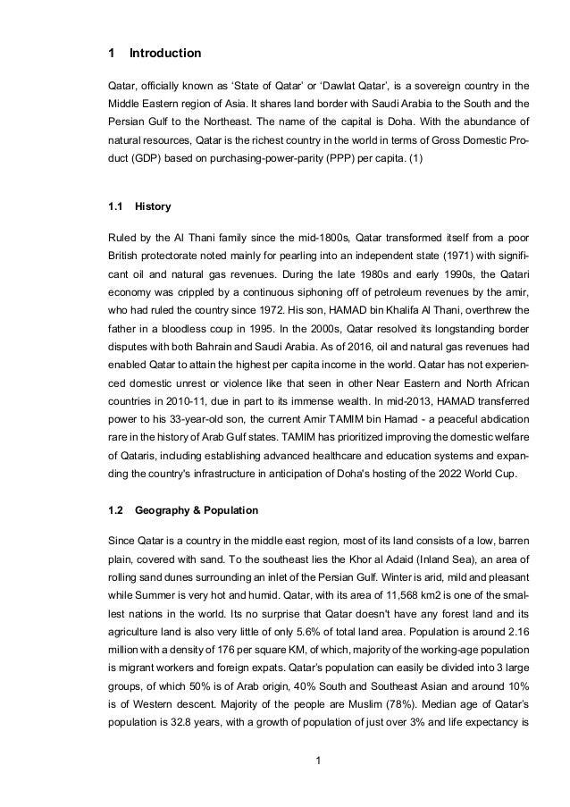 Analysis of a potential target market qatar pdf
