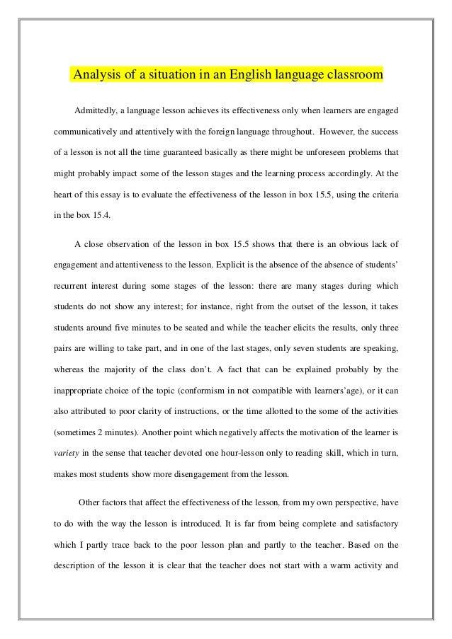 an analysis of english language Rhetorical analysis essay ap english language: application cover letter help rhetorical analysis essay ap english language: application cover letter help.