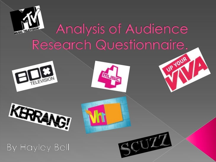 Analysis of Audience Research Questionnaire.<br />By Hayley Bell<br />