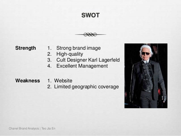 chanel analysis swot 6 ps Chanel analysis swot, 6 p's table of contents introduction 3 from coco to karl - a legend lives on 3 the 6 p's 8 product 8 when thinking of chanel.