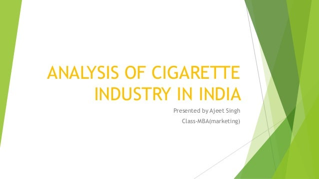 The Political and Legal Environment for Cigarette Marketing
