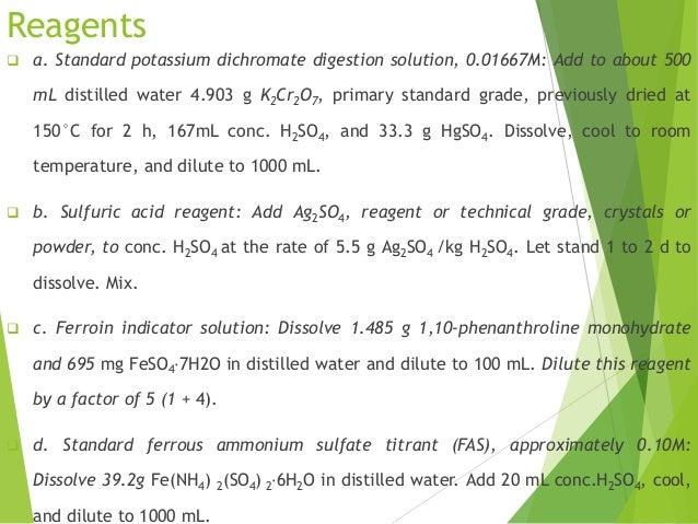 how to prepare 0.1n ferrous ammonium sulphate solution