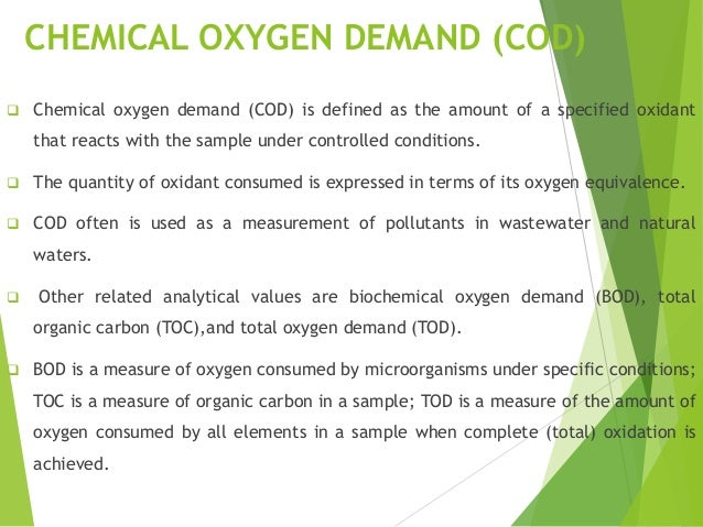 Biochemical Oxygen Demand Essay - 593 Words