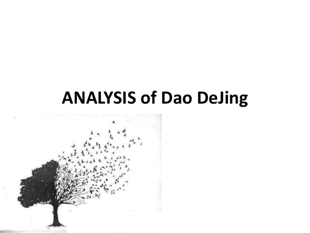 ANALYSIS of Dao DeJing