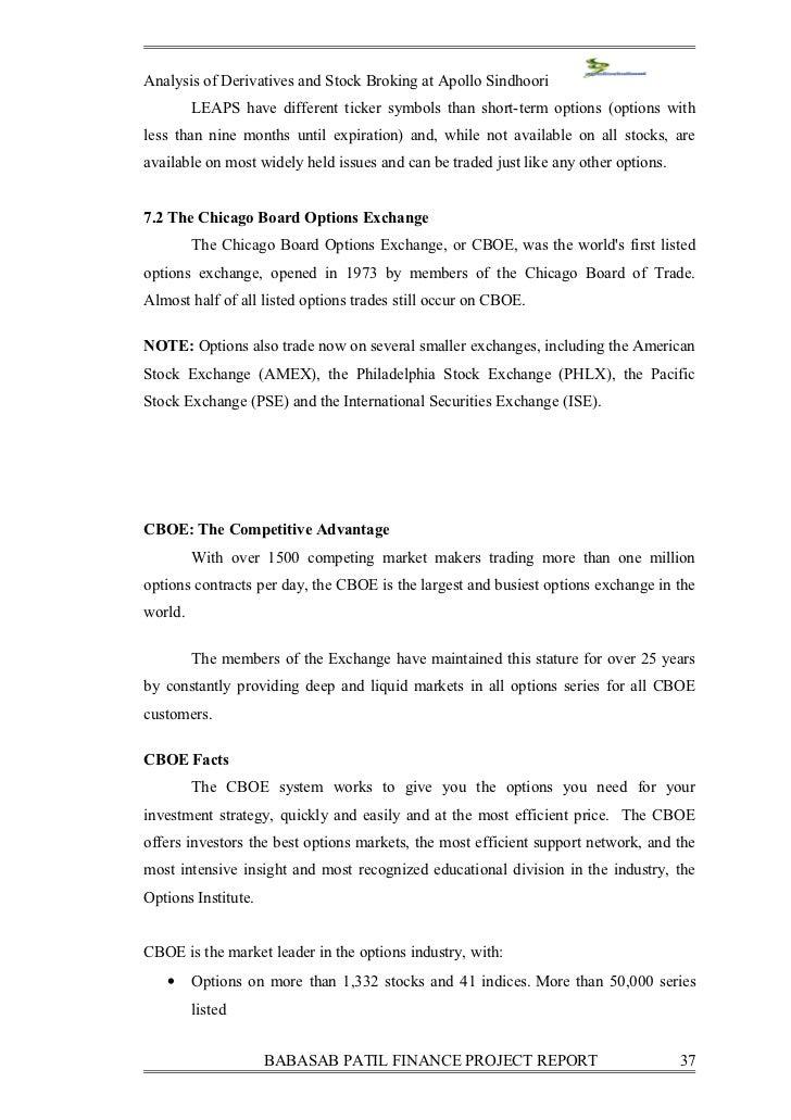 Chicago Board Options Exchange CBOE  Investopedia