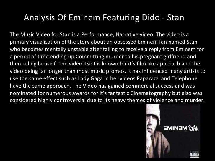 an analysis of eminems The epic eminem analysis posted on july 8, 2010 | 6 comments so eminem has just released his sixth major album (seventh, if you count the 8 mile soundtrack), one.