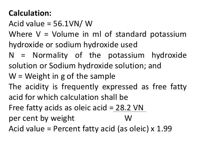 a nalysis of fat and oil