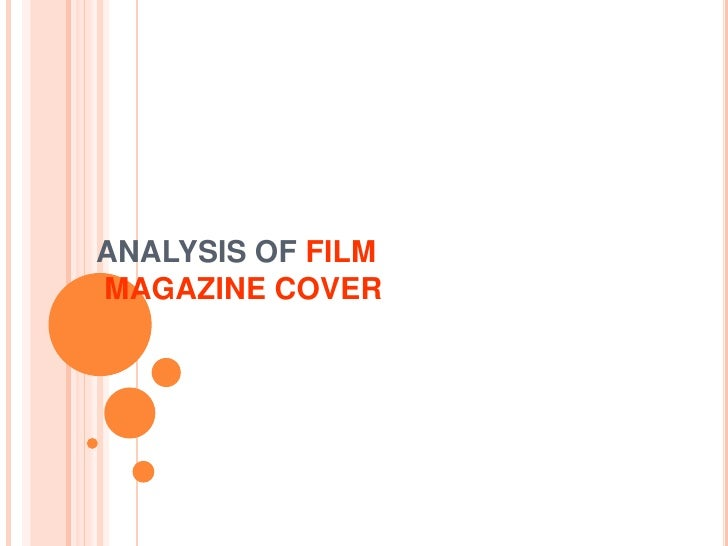 ANALYSIS OF FILM MAGAZINE COVER<br />