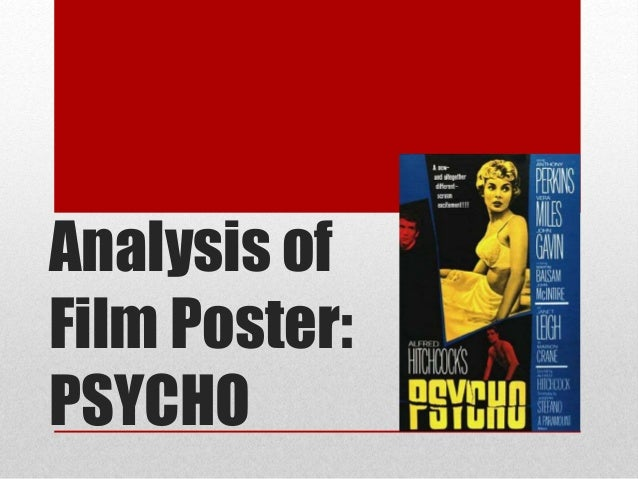 Film techniques used in Psycho