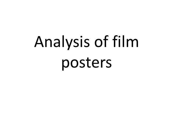 Analysis of film posters<br />