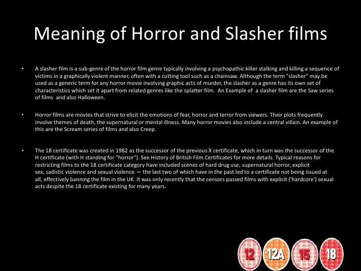 an analysis of the various aspects that are characteristic for horror films The designations film, movie, and cinema carry different an analysis that compares juno with other films such as setting is often an important aspect.