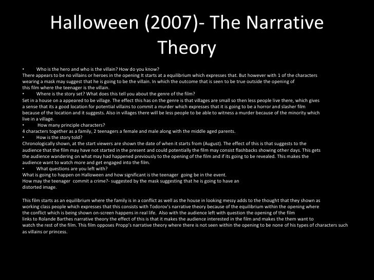 an analysis of the narrative elements in a horror film Such elements include the idea of narrative cases to permit statistical analysis narrative is often used in case but narrative film may also.