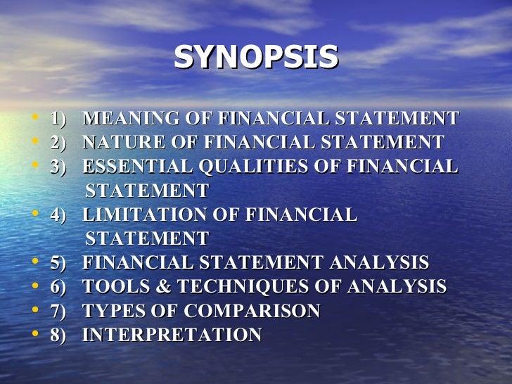 Analysis of financial statements Slide 2