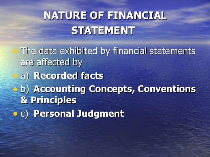 Analysis of financial statements Slide 3