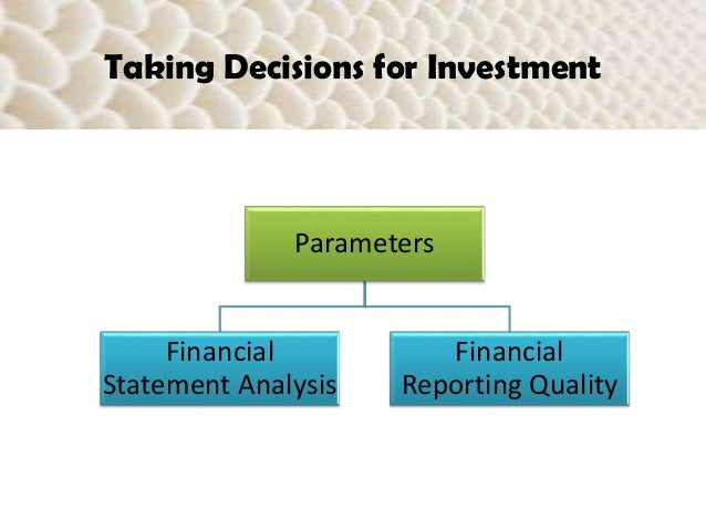 investment parameters for a 5 ply