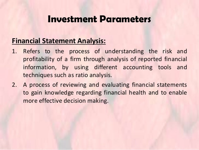 financial statement analysis and quality of Addition to financial statements analysis, investigate the internal and external   evaluating the quality of financial reports, namely: (i) timeliness/availability of.