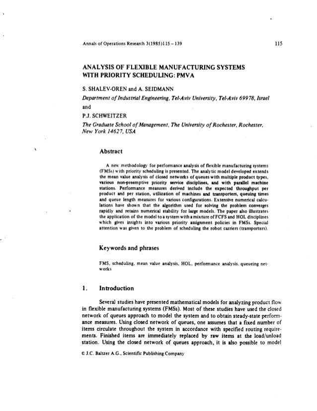 Analysis of flex manu syst wprior sched pmva (or pub)
