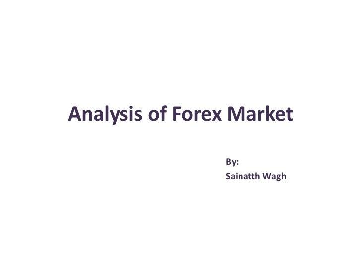 Analysis of forex market