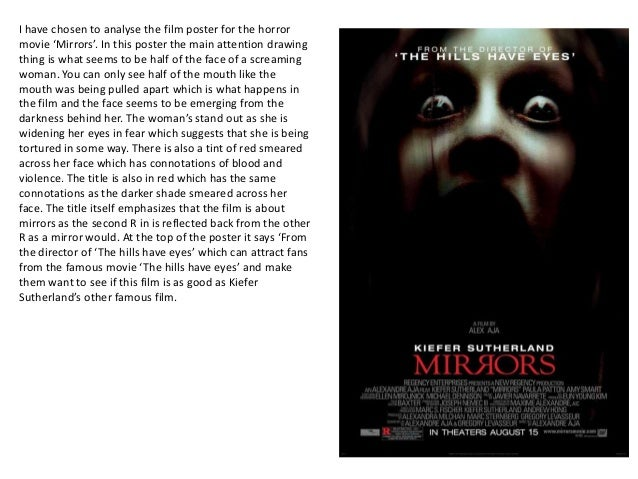 Analysis of horror mov...