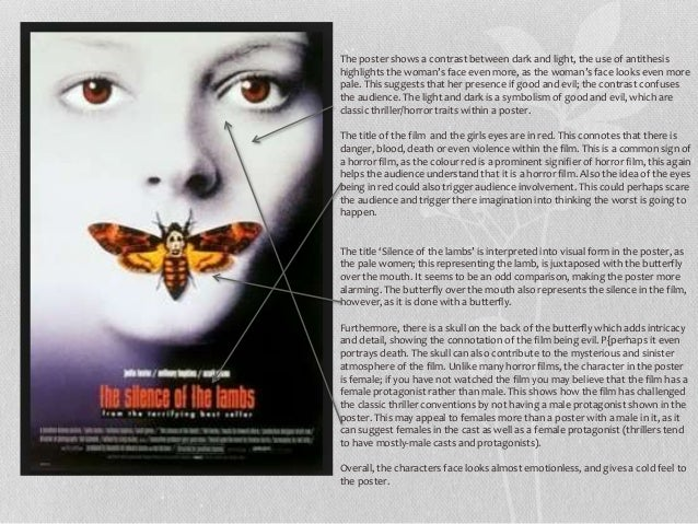 My analysis of horror/thriller posters