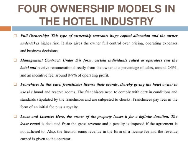 food outsourcing in the hotel industry essay The plan also should spell out any essential criteria that might affect the success of the outsourcing relationship, such as us food and drug administration regulations, us department of agriculture regulations, or industry best practice standards governing the particular operation.
