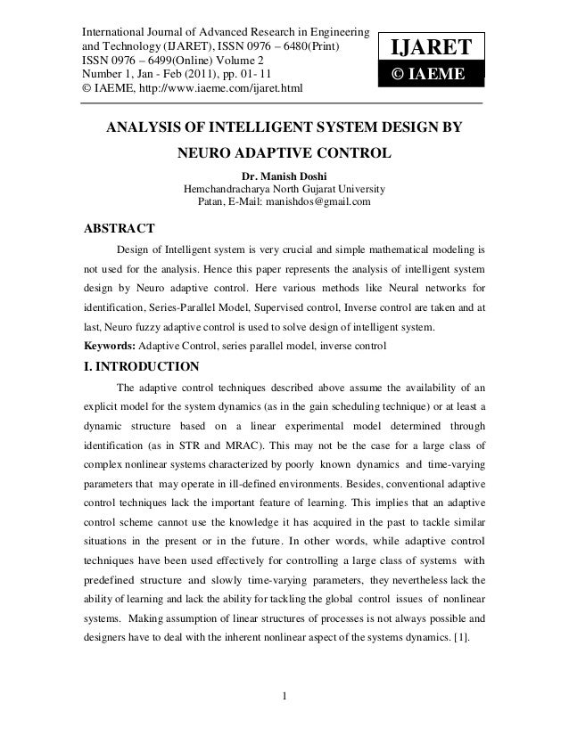 International Journal of Advanced in Engineering and Technology (IJARET)International Journal of Advanced Research        ...