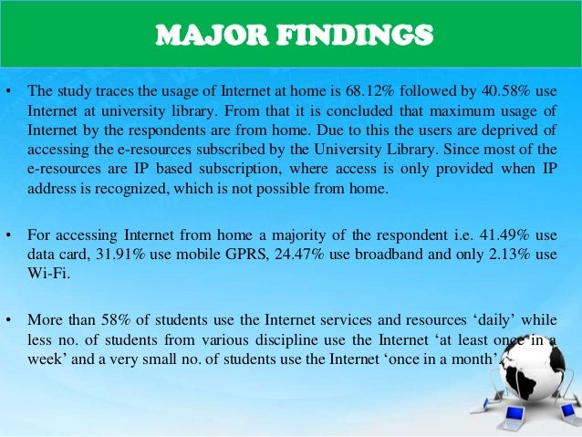 An analysis of the topic of the use of internet