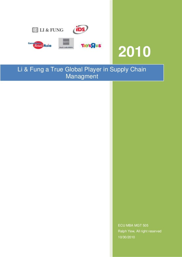 Supply Chain Management for globalised business