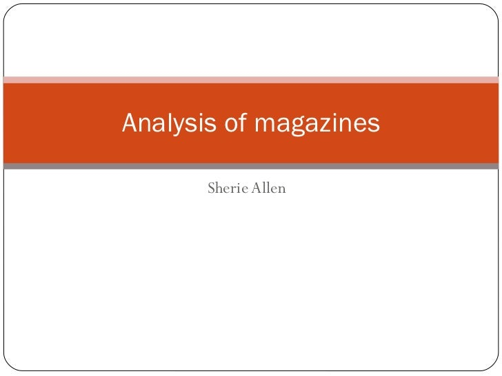 Sherie Allen Analysis of magazines