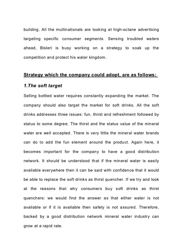analysis of marketing strategy of mineral water industry  73 building