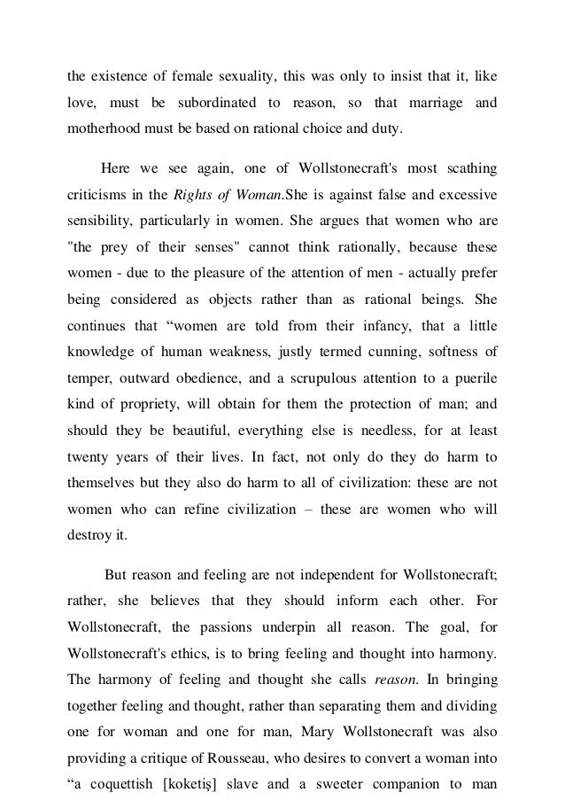 Analysis Of Mary Wollstonecrafts Vindication Although She Recognised  The Existence Of Female  Annotated Bibliography Helper also High School Vs College Essay  English Essay Ideas