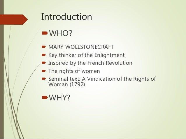 mary wollstonecraft vindication of womens rights