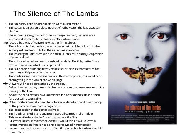 silence of the lambs psychology essay Silence of the lambs in the book silence of the lambs (harris, 1988) the whole plot is based around three main characters clarice starling, a precociously self-disciplined fbi trainee who is put into the position of trying to unravel the mind of an evil genius, hannibal the cannibal lecter, in order to find the answers needed to capture the serial killer, jame gumb, also known as buffalo bill.
