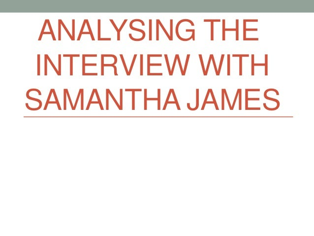 an analysis of the interview with an artist Exclusive interview with andres serrano whether it's making art expert analysis and commentary to make sense of today's biggest stories.