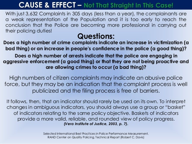 CAUSE & EFFECT – Not That Straight In This Case! With just 3,632 Complaints in 305 days (less than a year), the complainan...