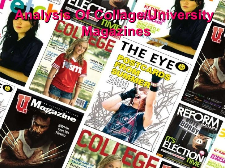 Analysis Of Collage/University Magazines