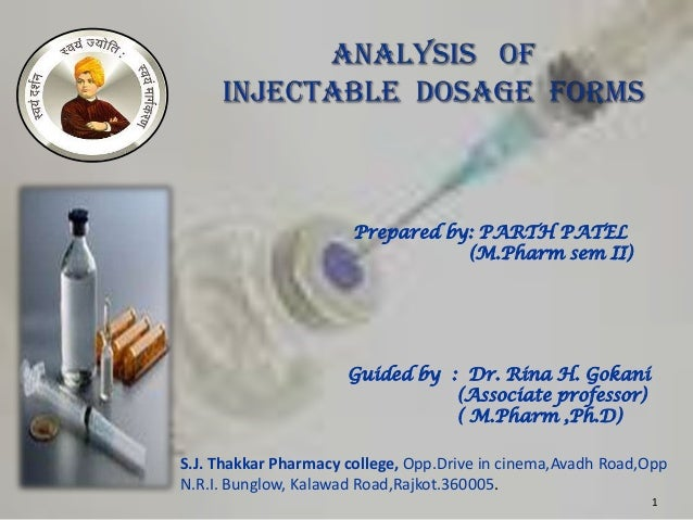 Prepared by: PARTH PATEL                                  (M.Pharm sem II)                      Guided by : Dr. Rina H. Go...