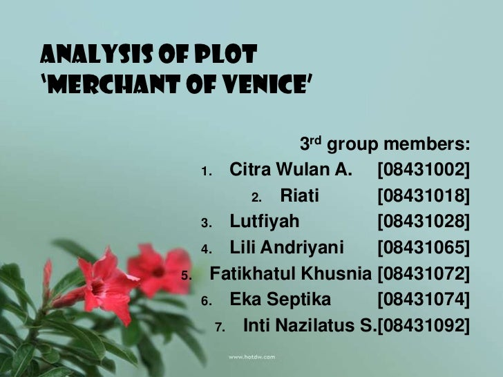 the merchant of venice analysis of