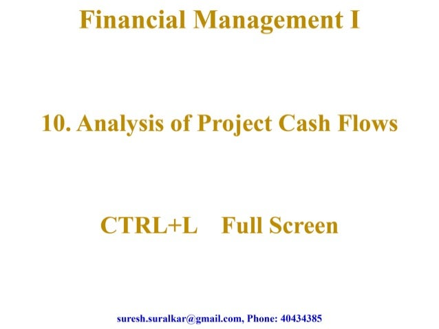 Analysis of project cash flows